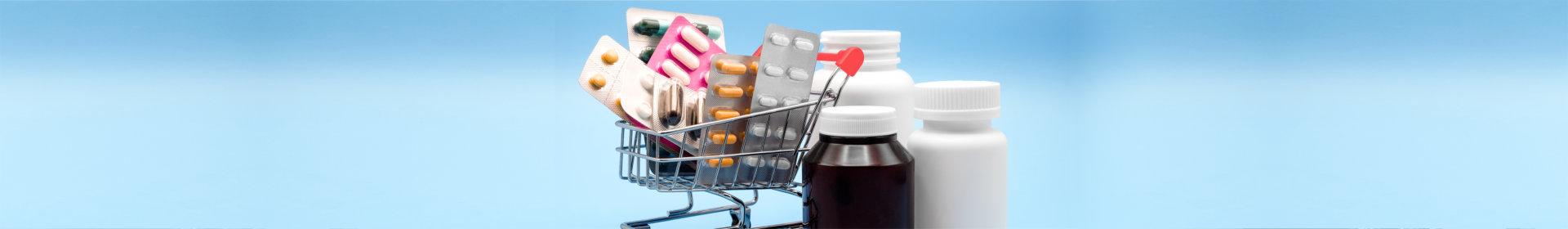 cart and medicines