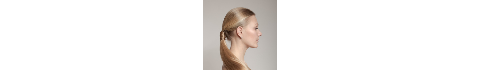 woman with a hair tail